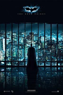 Batman The Dark Night Art Print