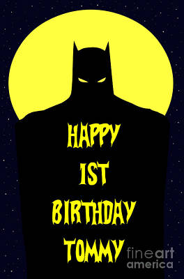Digital Art - Batman Tommy 1st Bday by JH Designs