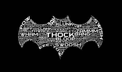 Batman Typography Art Print by Zac Saylor
