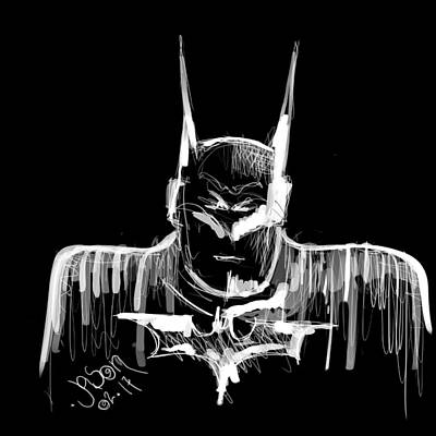 Digital Art - Batman..... V2.17 by Jason Nicholas
