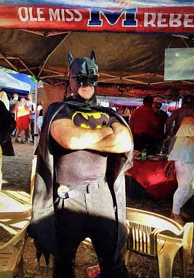 Photograph - Batman Visits The Grove by JC Findley