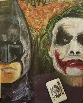 Heath Ledger Digital Art - Batman Vs Joker by Doloris Boutwell