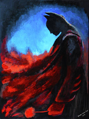 Ben Affleck Wall Art - Painting - Batman's Mercy by Brandy Nicole Neal Stenstrom
