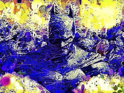 Mixed Media - Batman 2 by Al Matra