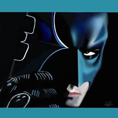 Digital Art - Batman's Warning by Douglas Day Jones
