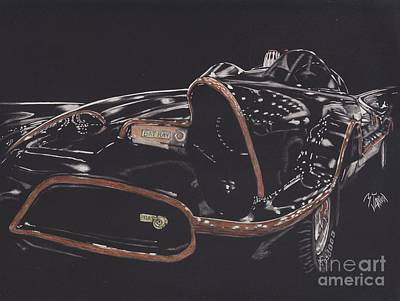 Dc Comics Drawing - Batmobile 2 by Matthew Jarrett