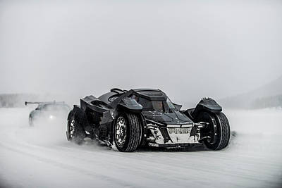 Photograph - Batmobile Snowtour by George Williams