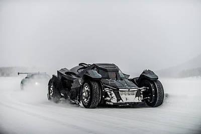 Photograph - Batmobile Snowtour by George Williams
