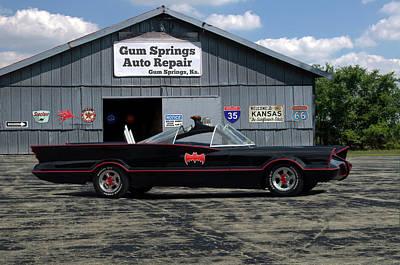 Photograph - Batmobile Tv Replica by TeeMack