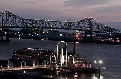 Photograph - Baton Rouge Bridge by Helen Haw