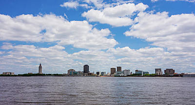 Historic Architecture Photograph - Baton Rouge Downtown Skyline Across Mississippi River by Alex Grichenko