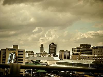 Capitol Building Digital Art - Baton Rouge Louisiana Skyline by Minds I Designs-Photography