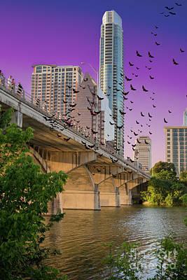 Bats Over Austin Art Print by Juli Scalzi
