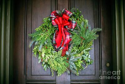 Photograph - Batso Village Christmas Wreath by John Rizzuto