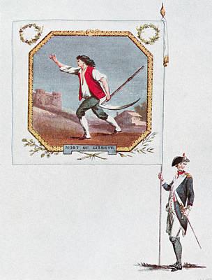 Battalion Flag Of The Parisien National Art Print