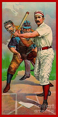 Photograph - Batter Up 1895 B by Padre Art