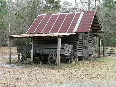 Battered Barn And Weathered Wagon Art Print by Al Powell Photography USA
