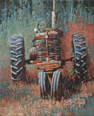 Junk Yard Painting - Battered by Mia DeLode
