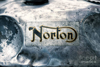 Photograph - Battered Norton Gas Tank by Tim Gainey