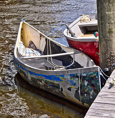 Photograph - Battered Rowboat by Linda Brown