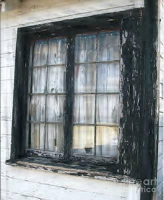 Battered Window Original by Jane Butera Borgardt