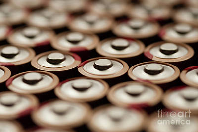 Batteries In Rows Abstract Art Print