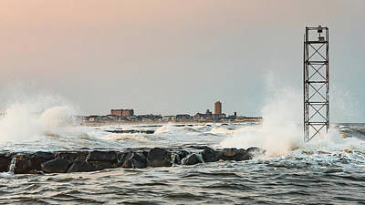 Battering The Shark River Inlet Art Print
