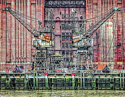 Photograph - Battersea Cranes by Makk Black