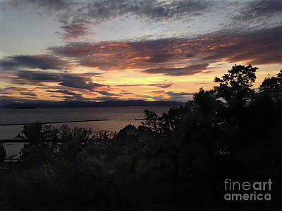 Photograph - Battery Park Lake Champlain Sunset Mid October by Felipe Adan Lerma