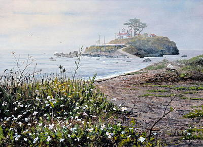 Painting - Battery Point Lighthouse by Bill Hudson