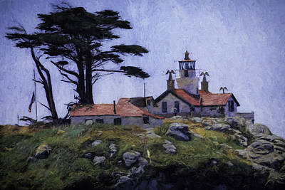 Battery Point Lighthouse Crescent City California Art Print