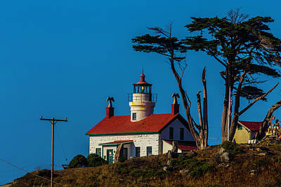 Tiny House Wall Art - Photograph - Battery Point Lighthouse Cresent City by Garry Gay