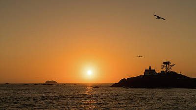 Photograph - Battery Point Lighthouse Sunset Crescent City California by Lawrence S Richardson Jr