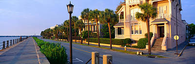 Battery Street Waterfront, Charleston Art Print by Panoramic Images