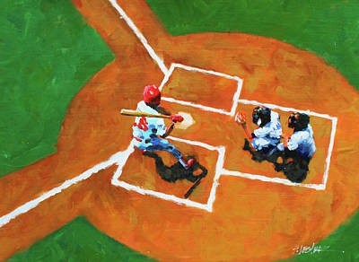 Painting - Batting Cleanup by Steven Lester