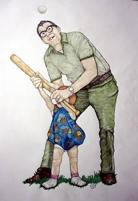 Batting Practice No 1 Art Print by Edward Ruth