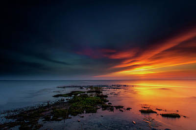 Photograph - Battle Between Night And Day by CA Johnson