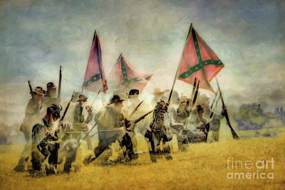 Digital Art - Battle Confusion Civil War by Randy Steele