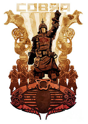 Comic Wall Art - Digital Art - Battle Cry by Brian Kesinger