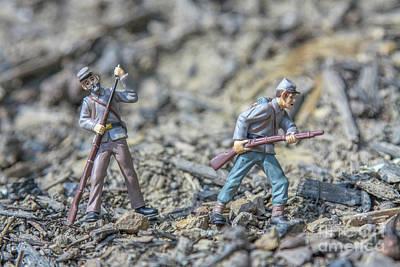 Battle In My Back Yard Art Print by Randy Steele