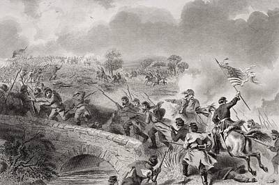 Battle Of Antietam Near Sharpsburg Print by Vintage Design Pics