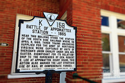 Photograph - Battle Of Appomattox Historical Marker by Jill Lang
