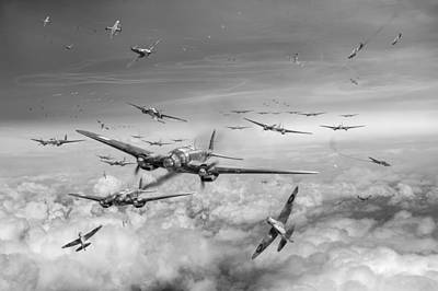 Photograph - Battle Of Britain Day Black And White Version by Gary Eason