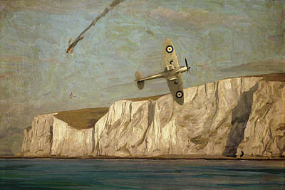 Battle Of Britain Over Dover Art Print