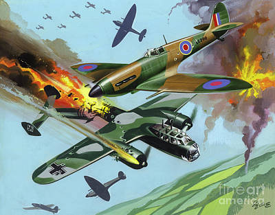 Painting -  Battle Of Britain  by Ron Embleton