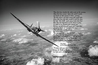 Photograph - Battle Of Britain Spitfire Per Ardua Poem by Gary Eason