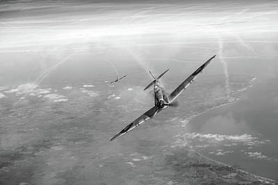Art Print featuring the photograph Battle Of Britain Spitfires Over Kent by Gary Eason