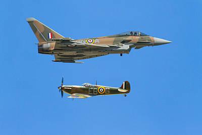 Photograph - Battle Of Britain Synchro Pair Riat 2015 by Ken Brannen