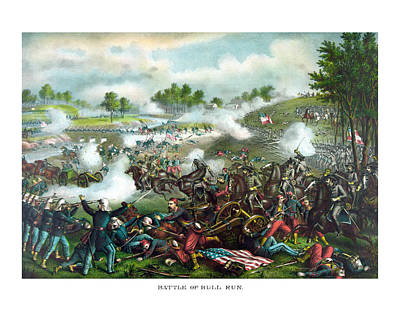Battle Of Bull Run Art Print