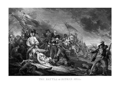 Landmarks Mixed Media Royalty Free Images - Battle of Bunker Hill Royalty-Free Image by War Is Hell Store